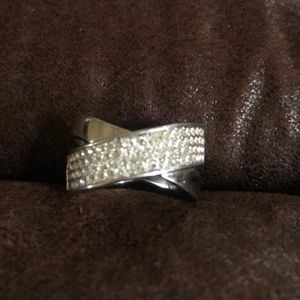 Michael Kors Silver Pave Ring